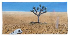 Bath Towel featuring the painting Happy Little Tree by Kevin Daly