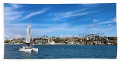 Harbor Sailing Hand Towel