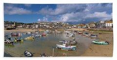 Harbour - St Ives Cornwall Bath Towel