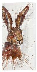 Hare Portrait Bath Towel