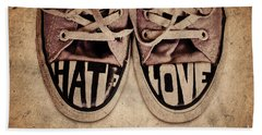 Hate And Love Hand Towel
