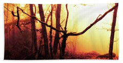 Haunted Forest In A Mystical Light Bath Towel