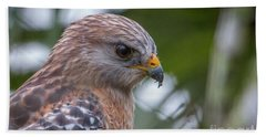 Hawk Portrait Bath Towel
