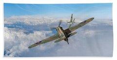 Bath Towel featuring the photograph Hawker Hurricane Deflection Shot by Gary Eason