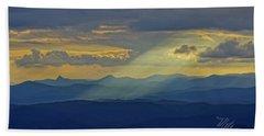 Hawks Bill Mountain Sunset Bath Towel