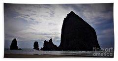 Haystack Rock Canon Beach Bath Towel