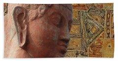 Head Of Buddha,  Bath Towel