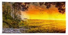 Heaven's Morning Glow Hand Towel