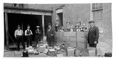 Heavily Armed Feds Seize Liquor Cache 1922 Hand Towel