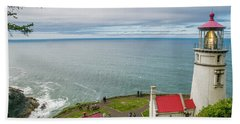 Heceta Head Lighthouse And The Pacific Bath Towel