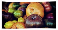 Heirloom Tomatoes At The Farmers Market Hand Towel