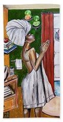 Her Prayer Bath Towel