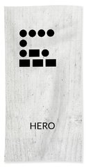 Hero Morse Code 2- Art By Linda Woods Bath Towel