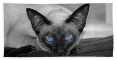 Hey There Blue Eyes - Siamese Cat Hand Towel