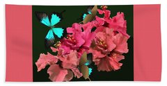 Hibiscus Butterfly Joy Hand Towel
