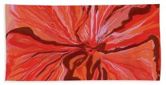 Hibiscus Color Lines Hand Towel