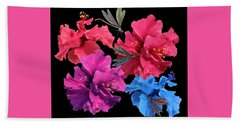 Hibiscus Dragonfly Bath Towel
