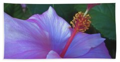 Hand Towel featuring the mixed media Hibiscus Grace 5  by Lynda Lehmann