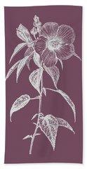 Hibiscus Roseus Purple Flower Bath Towel