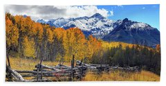 Hand Towel featuring the photograph High County Ablaze by Rick Furmanek
