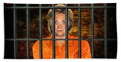 Hillary For Prison Hand Towel