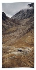 Hand Towel featuring the photograph Himalayan Outpost by Whitney Goodey