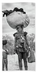 Himba Both Carrying  Hand Towel