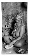 Himba Grand Mother Hand Towel
