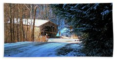 Bath Towel featuring the photograph Historic Grist Mill Covered Bridge by Patti Whitten