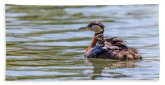 Hitchhiker Grebe Chick Hand Towel