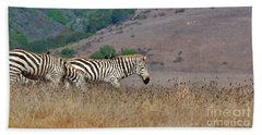 Hitching A Ride With The Zebra Hand Towel