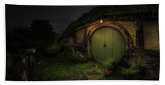 Hobbiton At Night #1 Hand Towel