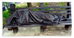 Homeless Jesus Bath Towel