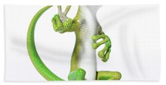 Hoping For Peace Gecko Bath Towel