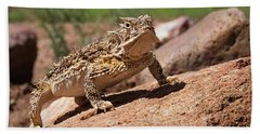 Horny Toad Hand Towel