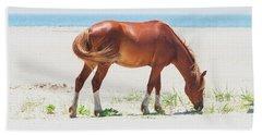 Horse On Beach Hand Towel