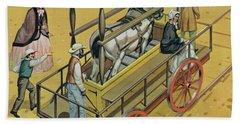 Horse Powered Locomotive Bath Towel