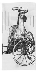 Horse Tricycle Hand Towel