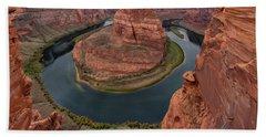 Horseshoe Bend Sunrise 1 - Page Arizona Bath Towel