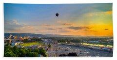 Hot Air Ballon Sunset Hand Towel