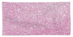 Hot Pink Glitter Hand Towel