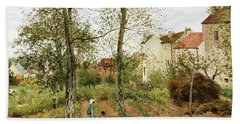 Houses At Bougival, Autumn - Digital Remastered Edition Bath Towel