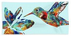 Hummingbird Blue - Sharon Cummings Hand Towel