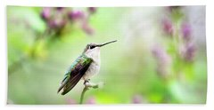 Hummingbird Charm Bath Towel