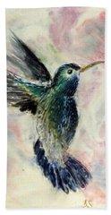 Hummingbird Flight Hand Towel