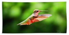 Hummingbird Flying Hand Towel