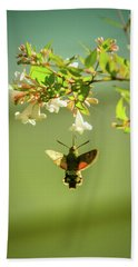 Hummingbird Hawk-moth Bath Towel