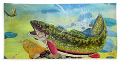 Hungry Trout Hand Towel