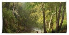 Hunter In The Woods, 1882 Bath Towel