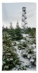 Hunter Mountain Fire Tower Hand Towel
